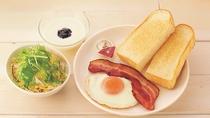 【朝食】サラダ&ベーコンエッグセット