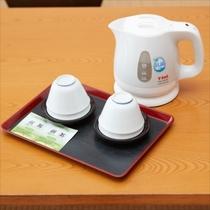 **客室一例/お部屋に入ったらまずはホッとひと息お茶タイム
