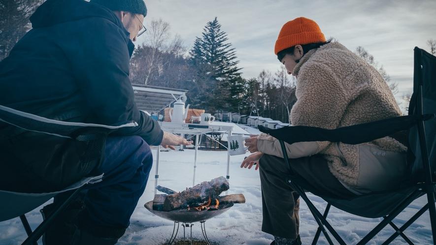 【焚き火セット】仲間と、家族と、冬空を見上げながら語り合う格別な時間をどうぞ。