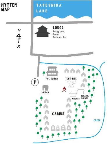 HYTTER施設マップ。