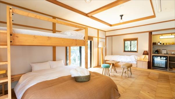 Room A|アーリーアメリカン調のバンクベッドのお部屋