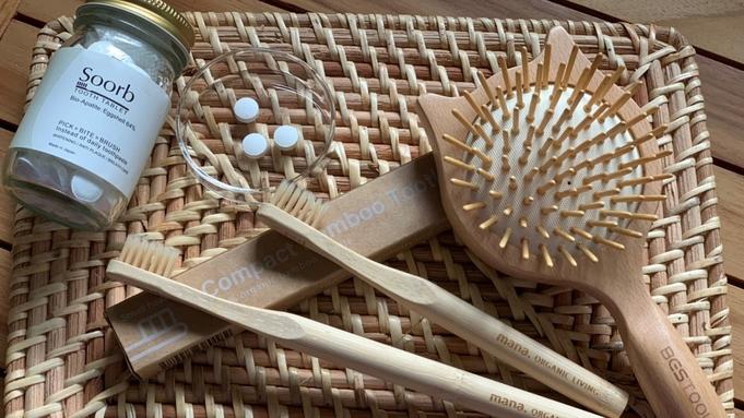 サスティナブルプラン|竹歯ブラシ&木製ヘアブラシ付|1泊2食付