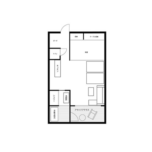 客室案内図(スタンダードルーム、ドッグフレンドリールーム)