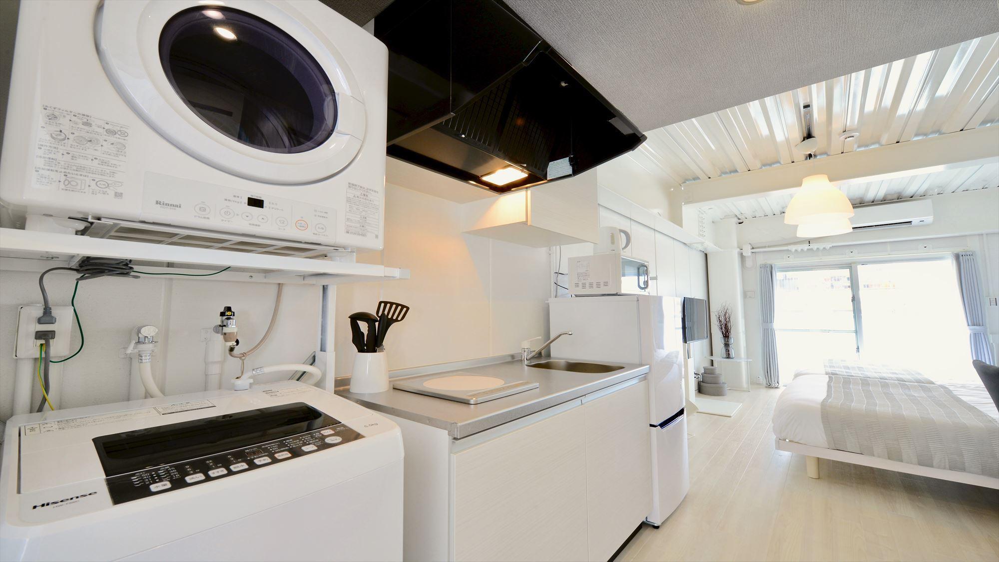 502号室 キッチン洗濯機・乾燥機