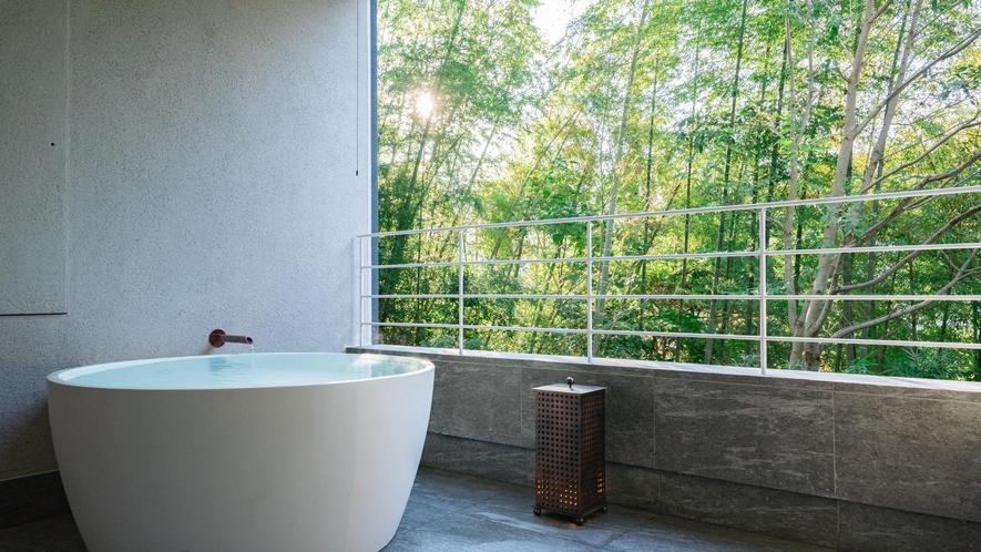 客室露天風呂イメージ(木立のツイン)