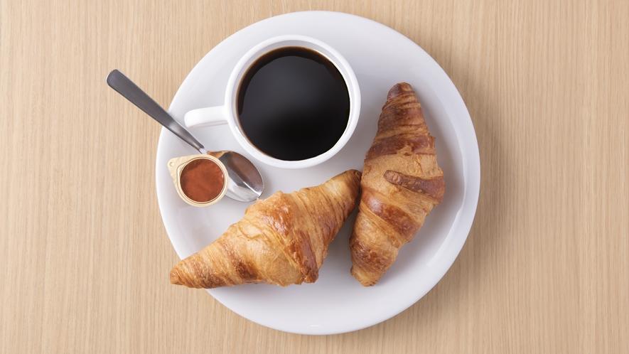 朝食イメージコーヒー&パン