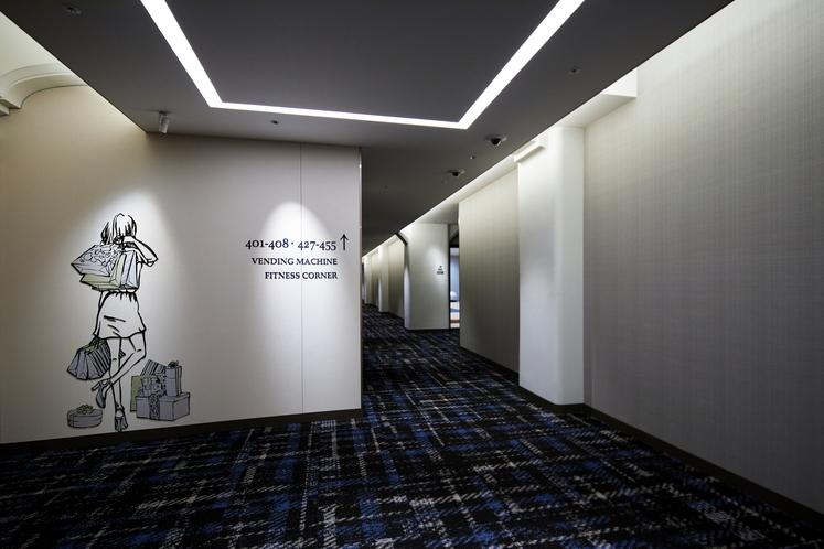 ホテル廊下