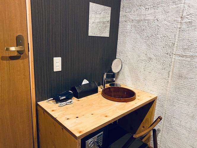 個室専用洗面台