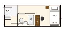 シングルルーム 内観図