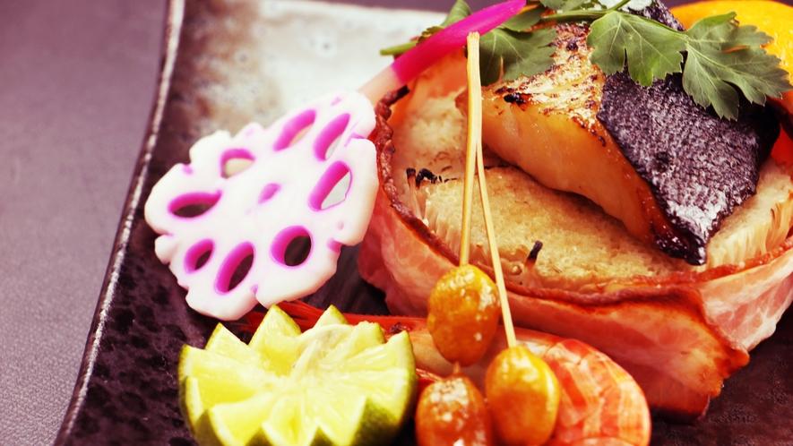 スタンダード単品_焼物のイメージ、お客様の満足度重視の会席料理
