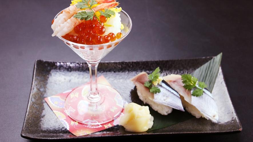 グレードアップ単品_ちらし寿司と旬のにぎり