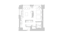 スイートツイン / 74~77㎡ / 14~17階/ ベッドサイズ 幅140㎝