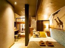 6名部屋 I 禁煙、23平米、ベッド幅140/100