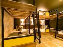 6名部屋 H 禁煙、22平米、ベッド幅100