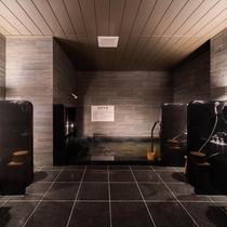 【Natural】男性大浴場。浴場で足を延ばしてご入浴下さいませ。源泉は定山渓温泉でございます。