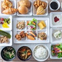 【無料健康朝食】お仕事前にたくさんお召し上がりくださいませ♪