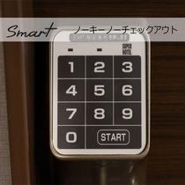 【Smart】客室テンキーパネル。Noキー、Noチェックアウトでスムーズな出発が可能に!