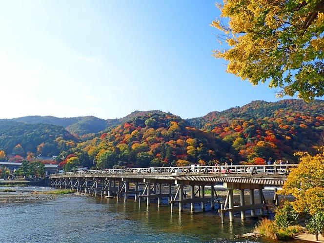 【渡月橋】■車で8分 ■電車+徒歩で18分 ■徒歩で29分