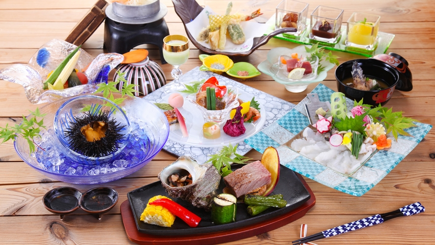 琴の庭「一周年記念ご夕食」夏のメニューです。