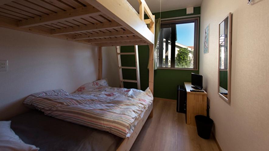 2段ベッドのツインルーム