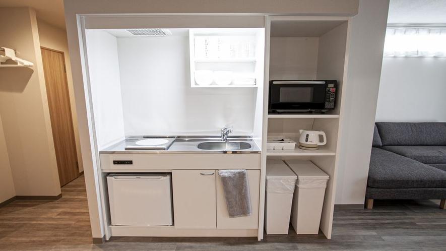 各部屋にキッチン完備