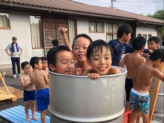 【野外風呂】