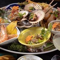 *【料理】夕食:皿鉢料理