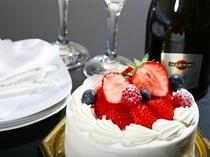 サプライズケーキ&シャンパン