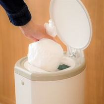 ゴミ箱は蓋つきで、匂いが漏れないようになっております
