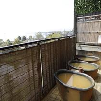 【大浴場 展望太閤温泉】すだれをあけると琵琶湖を一望できる