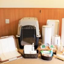 愛犬用のアメニティもお部屋に完備しております