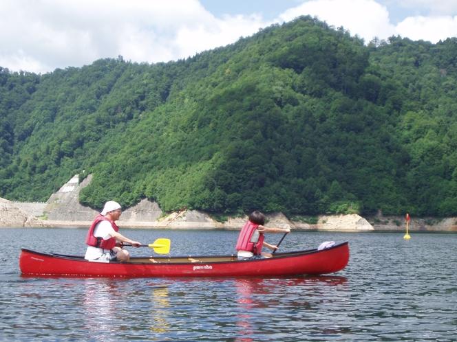 大自然 カヌー体験