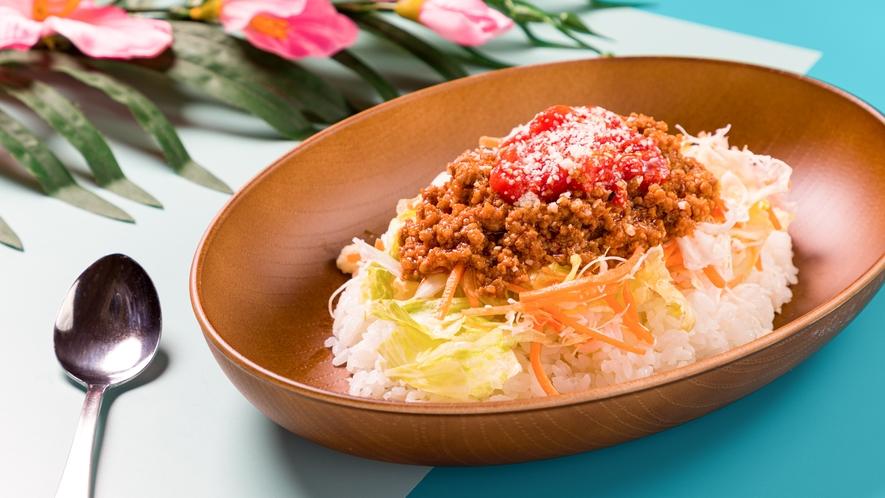 【タコライス】ごはんの上にタコスミートと野菜をのせて沖縄料理タコライスをお楽しみください♪