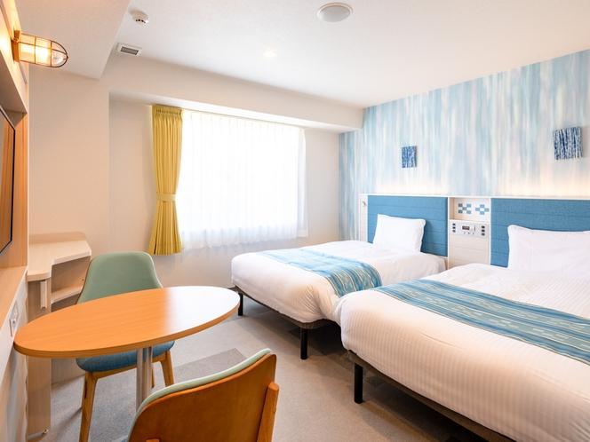 【ツインスタンダード1】ベッド幅110cm◆オリジナル快眠枕◆Wi-Fi対応