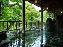 男性露天風呂 緑のころ