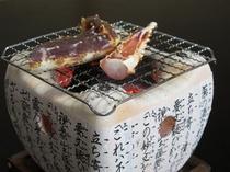 生タラバの炭火焼き