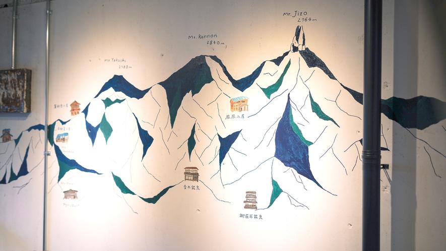 ・【シェアスペース】部屋名に周辺の山々の名前を付けております