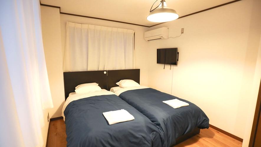 ・【別館みよしツイン】洋室(禁煙)にシングルベッド2台を完備