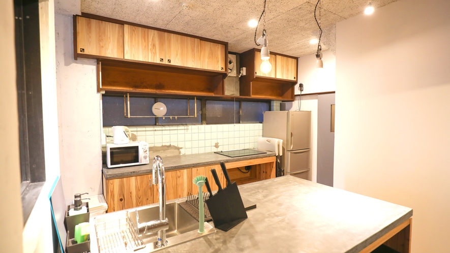 ・【シェアスペース】宿泊者が自由に使える共有キッチン