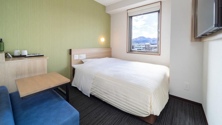 【スタンダードルーム】ダブルサイズベッドで眠りを追及し適度な硬さのマットでぐっすり♪     エクス