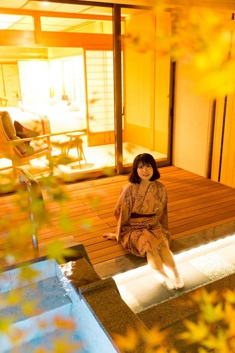 露天風呂付き客室 モデル(たて)