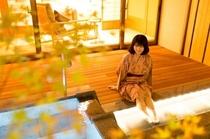 露天風呂付き客室 モデル(よこ)