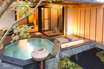 別邸客室 露天風呂からお部屋
