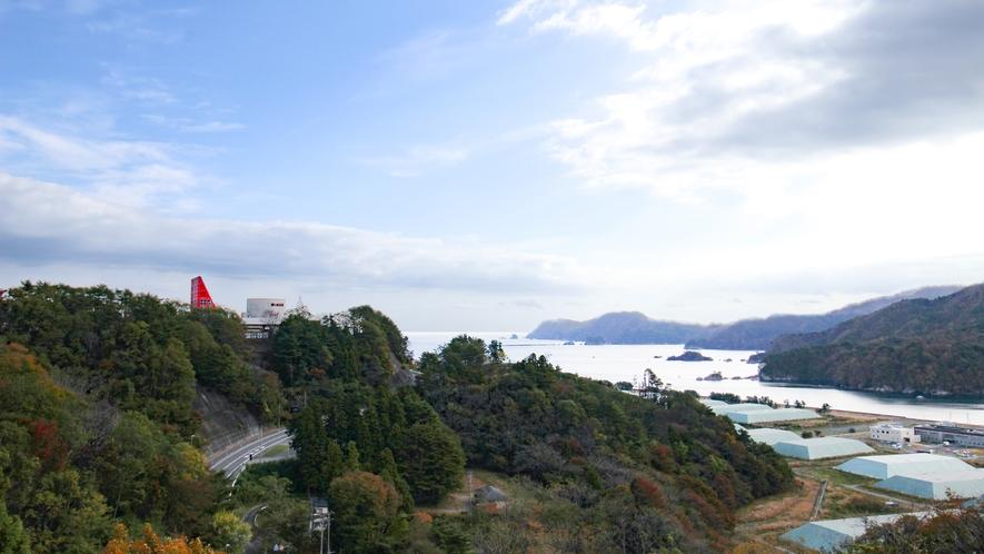 *【客室からの眺望】高台にあるからこそ望める三陸の絶景