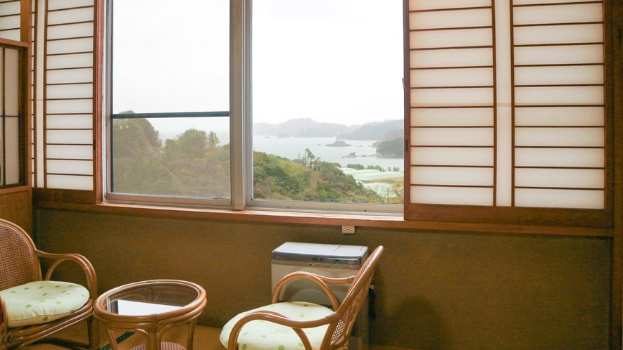 *【宿からの眺望】高台にあるからこそ望める三陸の絶景