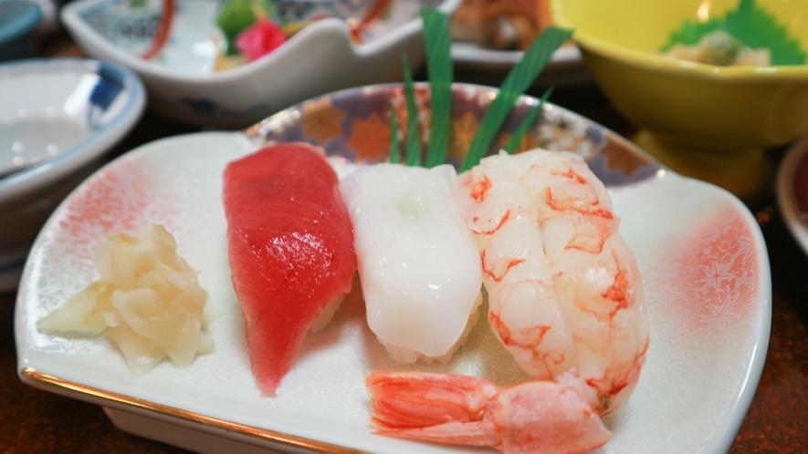 *【夕食/握り寿司一例】三陸産の海の幸を握りでどうぞ