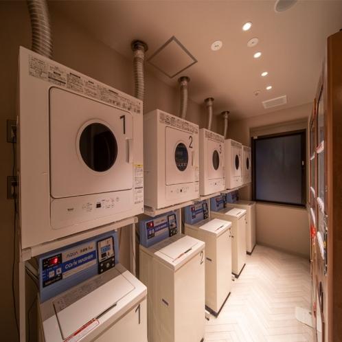 コインランドリー6台完備!洗濯1回200円で乾燥機・洗剤は無料でご利用いただけます。