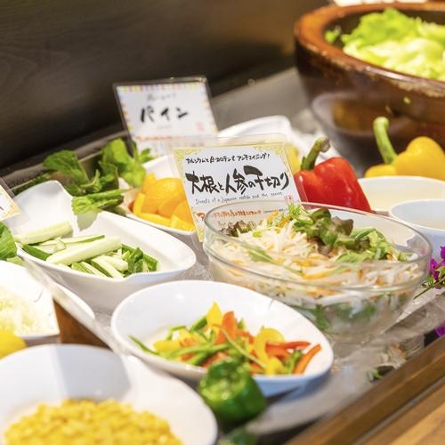 一木一草(朝食)サラダコーナー
