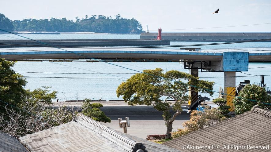 阿久根漁港と阿久根大島