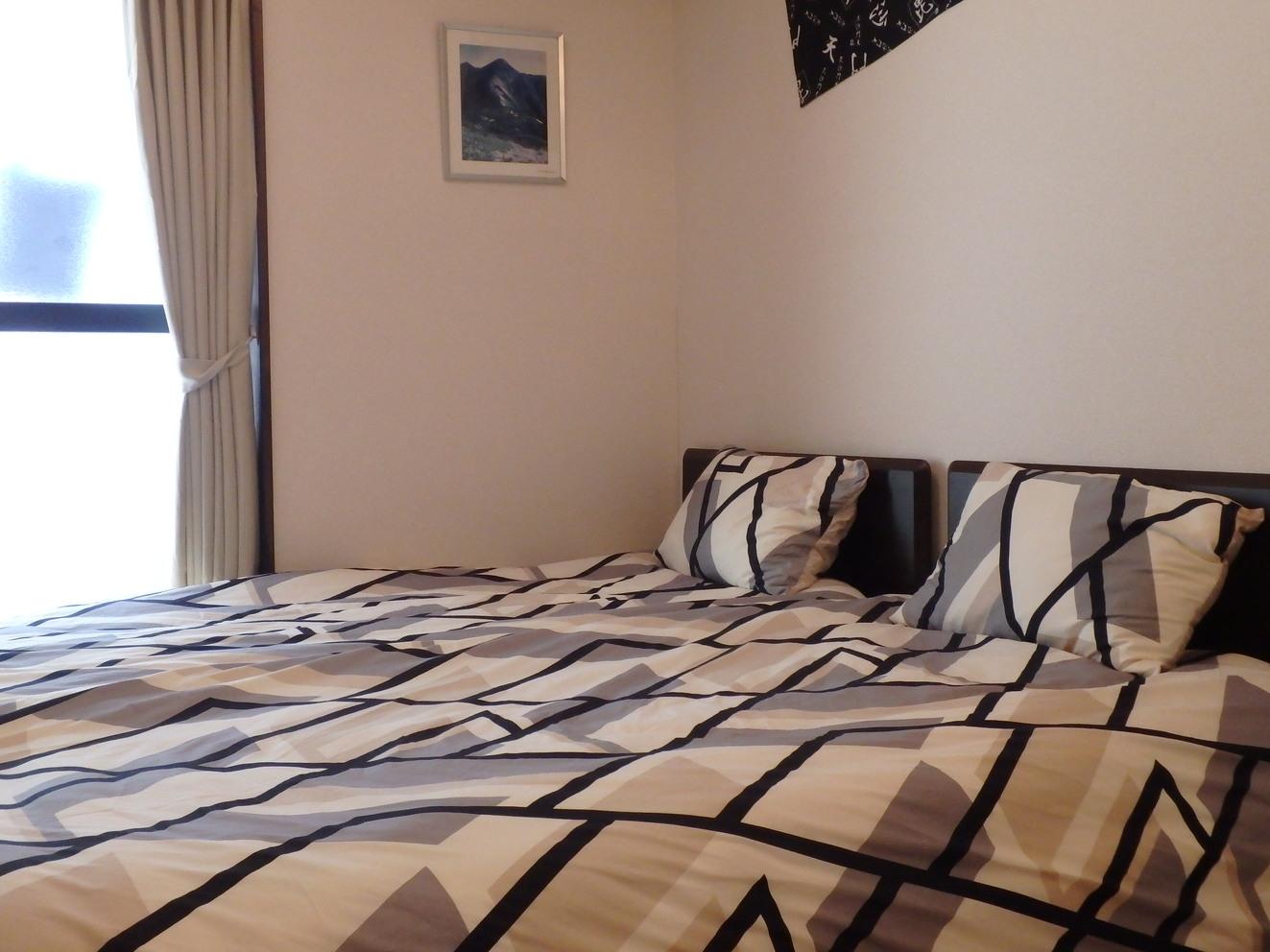 寝室シングルベッドです。